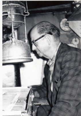 Merv Branks inside 6 x3 at Riverton Rocks 1967 - Tilley Lantern for Lighting and Heating