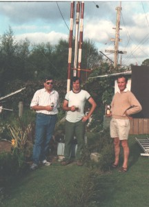 Robin with Ray Crawford and Owen Barriball at Pungarehu, Owen's home near Opunake