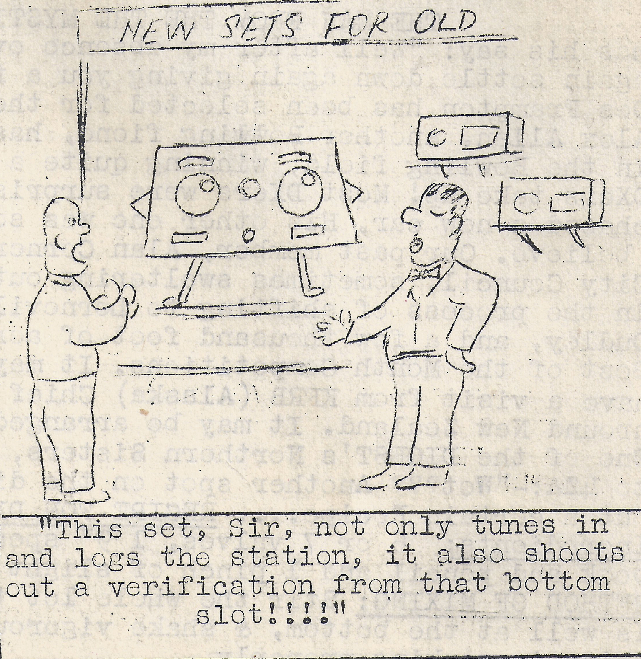 Receiver Joke from Aug 1956
